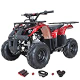 X-PRO 125cc Engine ATV Quad Youth 4 Wheeler ATVs Kid Size ATV 4 Wheelers 125cc Big Boys ATVs Quads with Gloves, Goggle and Handgrip (Spider Red)