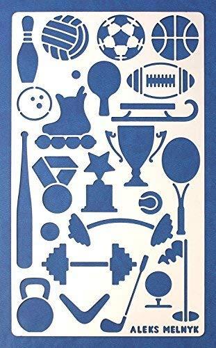Aleks Melnyk #13 Plantilla Stencil de Metal para estarcir/Deporte/para Arte Manualidades y decoración/Plantilla para Estarcidos/para Pintar con Aerógrafo/1 piezas/Bricolaje, DIY