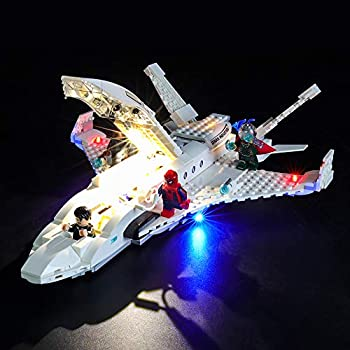 BRIKSMAX Led Lighting Kit for Stark Jet and The Drone Attack - Compatible with Lego 76130 Building Blocks Model- Not Include The Lego Set