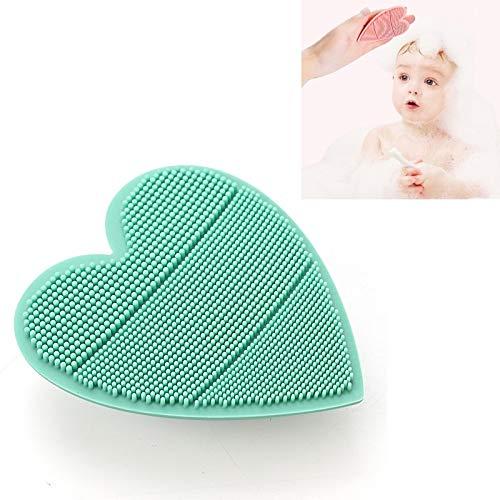HMG bebé Silicona champú Cepillo Suave y cómodo Baby Shower Masaje Cepillo Infantil Cuidado Productos (Color : Green)