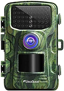 usogood Trail Camera with Night Vision Motion Activated Waterproof Game Cam 20MP 1080P Wildlife Cameras for Outdoor Animals Monitoring and Home Security Surveillance