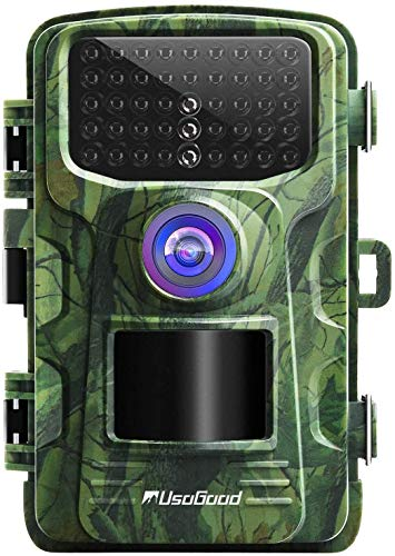 Trail Camera, Usogood Game Cameras 16MP 1080P with Night Vision Motion Activated Hunting Cam for Outdoor Wildlife Monitoring and Home Security Surveillance, IP66 Waterproof 2.4' LCD Screen