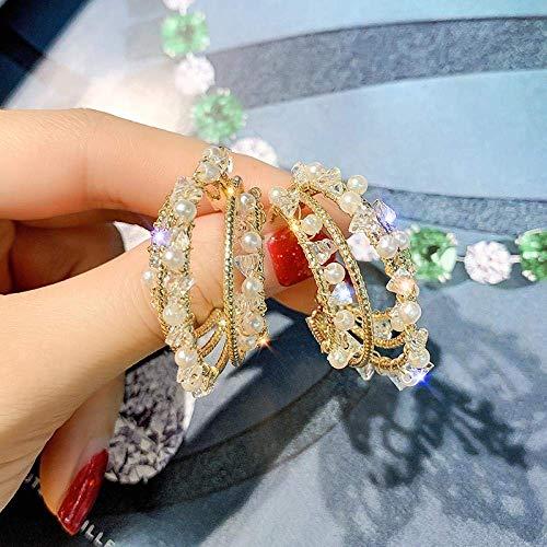 ZLININ Y-longhair frío viento alta calidad perla círculo pendientes alta mujer