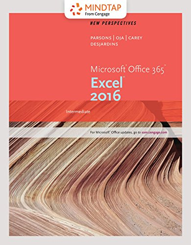 Bundle: New Perspectives Microsoft Office 365 & Excel 2016: Intermediate, Loose-leaf Version + MindTap Computing, 1 term