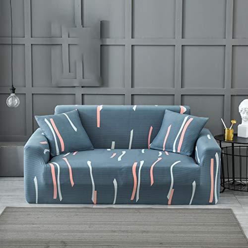 Tables Elastischer Sofabezug 1 2 3 4 Sitzer, Sofahusse Couchhusse Spannbezug für Sofa mit Armlehne Spandex Jacquard Elastische Couchbezug D,4seater