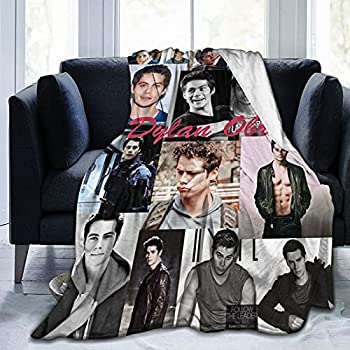 Teen-Wolf Dylan-Obrien Blanket Super Soft Fleece Throw Blankets All Seasons for Bed Couch Sofa Children 50X40 Inch