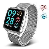TECKEPIC BL89 Montre Connectée Trackers d'activité HR Smartwatch Bracelet Connecté Podomètre Calories pour Android iOS