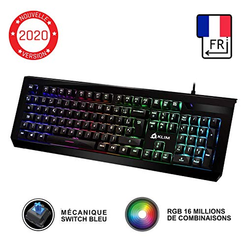 KLIM Domination Clavier Mécanique AZERTY RGB -...
