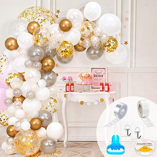 Arco de globos dorada