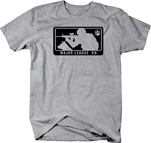 Major League K-9 Shooting Tactical Black Ops Military Mens T Shirt - XLarge Heather Grey