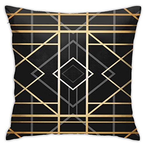 AOOEDM SXboxing Decorative Throw Pillow Covers 18x18 Inches,Christmas Square Throw Pillow Cases for Sofa Bedroom Car Orange Angle Geometric Pattern 1920 30s Abstract