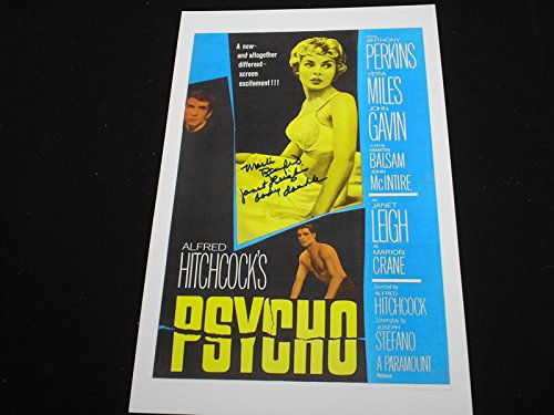MARLI RENFRO Signed PSYCHO 11x17 Movie Poster Janet Leigh Body Double Autograph RARE