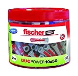Fischer 553308 Lot de 75 chevilles Duopower 10 x 50 mm
