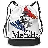 shenguang Les Miserables Drawstring Bags Multifunción Bundle Mochila Gran Capacidad Ligero Simple Portátil