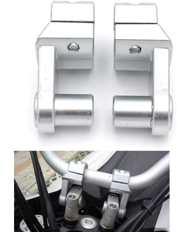 Motorrad Lenker Riser Bar Risers Clamp Bar Extend Adapter f/ür Motorrad mit 22MM silber 1 1//8 // 28MM Lenker 7//8