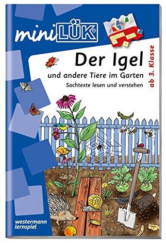 miniLÜK-Übungshefte: miniLÜK: 3./4. Klasse - Sachunterricht: Der Igel und andere Tiere im Garten