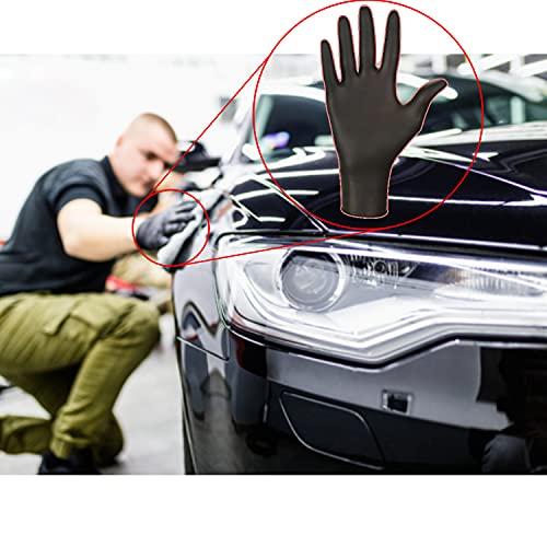 Mercator Medical Nitrylhandschuhe schwarz | XS - XL | NITRYLEX BLACK Einweghandschuhe puderfrei deckende Farbe Textur an den Fingerspitzen Nitril-Handschuhe, Größe:M - 100 Stück, Farbe:Schwarz