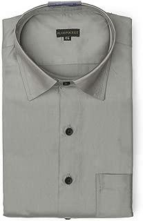 BLUEPOCKET Grey Formal Shirt for Men. Cotton-Satin, Regular Fit, Rounded Hemlines