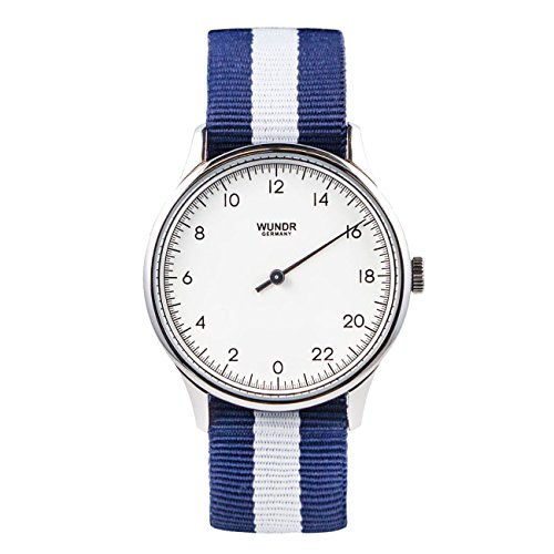 WUNDRWATCH – die 24h Einzeigeruhr für Herren mit Wechselarmbändern (Schweizer Uhrwerk |...