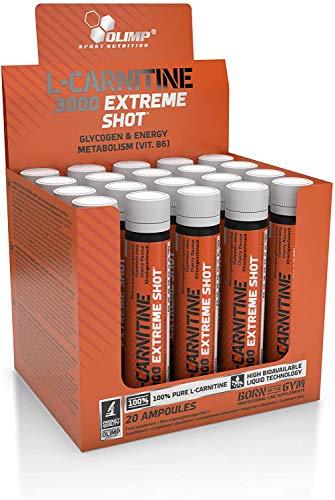 Olimp L-Carnitine 3000 Extreme Shot, Orange amino acid fat burner weight loss fat loss lean body lean muscle - 20 bottles Nutrition M