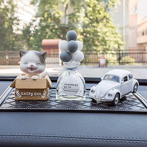 Auto dekoration, auto ballon dekoration, auto dekoration, dekoration Blinkende Katze (Haarband, weißes Auto + grauer Ballon (Glasflasche, rutschfeste Unterlage + Parfüm)