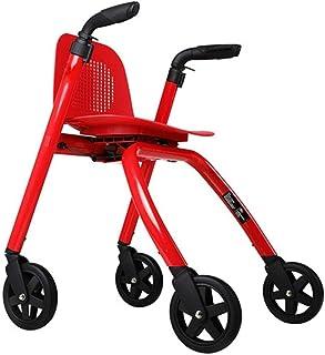 Mobility Aids & Supplies Walker Metal Rehabilitation Folding Walker Elderly Four-wheeled Cart Crutches Four-wheel Shopping...