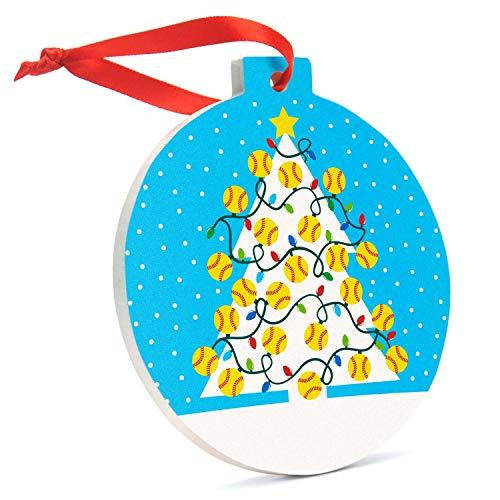 Softball Porcelain Ornament Softball Christmas Tree