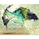 CHENISTORY Frame Painting Calligraphy Dancer DIY Painting By Numbers Modern Wall Art Picture Regalo único para la decoración del hogar 60x75 50x65cm