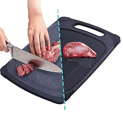 Belltop - Tabla para descongelar alimentos - Bandeja de descongelación rápida + Tabla para cortar (2 en 1)