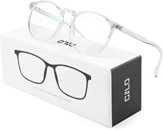CNLO BlueLightBlockingGlasses,ComputerGlasses ,Radiation Protection Gaming Glasses, for UV Protection, Anti Eyestrain, Lightweight Frame Eyewear,Men/Women (Crystal)