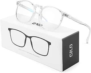 CNLO BlueLightBlockingGlasses,ComputerGlasses ,Radiation Protection Gaming Glasses, for UV Protection, Anti Eyestrain, Lightweight Frame Eyeglasses,Men/Women (Crystal)