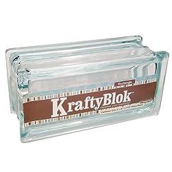 KraftyBlok decorative glass block for crafters