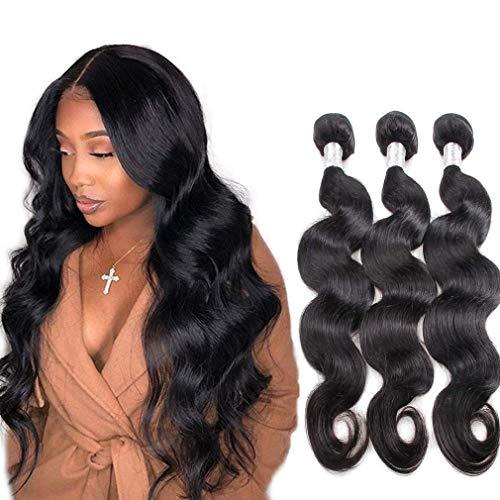 Remy Brazilian Body Wave Weave Bundles Von NIUDINNG Echthaar Tressen Zum Einnaehen Brazilian Hair 3 Bundles 300g Grad 7a QualitäT Farbe Schwarz 14 16 18 Zoll
