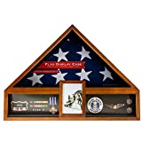 Military Veteran Flag and Medal Display Case - Shadow Box