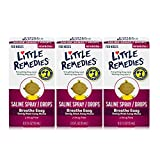 Little Remedies Saline Spray and Drops, Safe for Newborns, 0.5 fl oz, 3 Pack