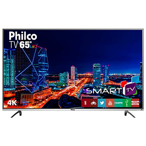 TV LED 4K 65', Philco Smart PTV65F60DSWN, Preto