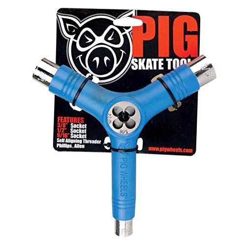 Pig Tri-Socket / Threader Neon Blue Skate Tool by PIG
