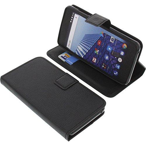 foto-kontor Tasche für Archos Access 50 Color 3G Book Style schwarz Schutz Hülle Buch