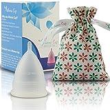 Athena Copa Menstrual – La copa menstrual más recomendada - Incluye una bolsa de regalo - Talla 2, Transparente - ¡Ausencia de pérdidas garantizada!