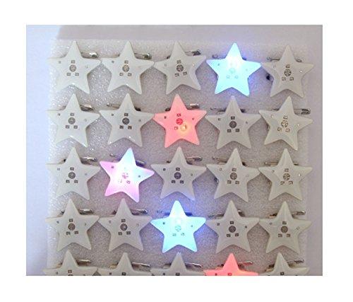 YXP Juego de 6 chapas LED con forma de estrella, color blanco