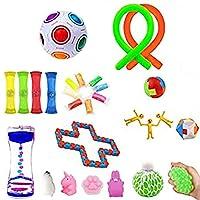 そわそわおもちゃセット、ストレス解消のための感覚おもちゃパック子供と大人のためのADHD不安自閉症、教室とオフィスのための楽しいそわそわゲーム(さまざまなおもちゃセット)