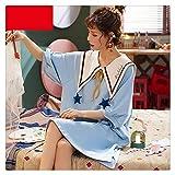 Pijama Camisón Mujer Desgaste De Manga Corta De Manga Larga Pijamas Camisón De Algodón...