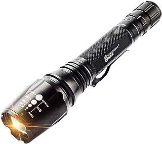 d772621d9 ANKIKI Recargable Linternas LED estándar Linterna táctica de Enfoque  Antideslizante Impermeable Excursionismo Luz de Camping 800Lumens