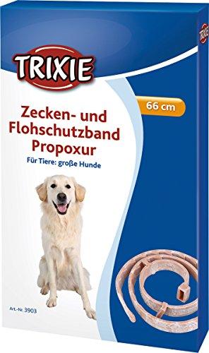 Trixie Ungezieferhalsband Zecken- und Flohschutzband Propoxur, große Hunde, 66 cm, hellbraun