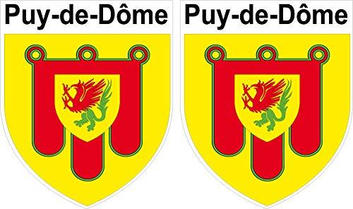 2 x Wappen Puy de Dome Aufkleber 4 x 5 cm Département 63 ECUSSON