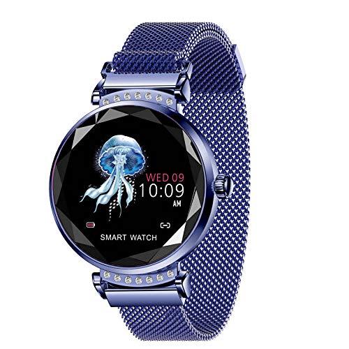 HX0945 BM88 Frauen Smart Watch Herzfrequenzüberwachung Sport Smart-Armband-Uhr-IP68 Wasserdicht Schwimmen Inteligente,Blau