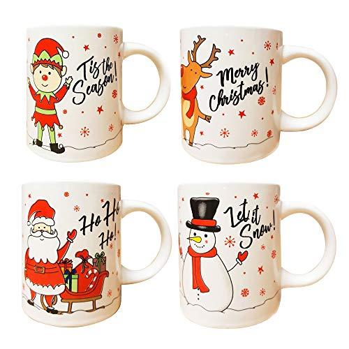 Christmas Mugs Set of 4 Festive Party Xmas Mugs Home...