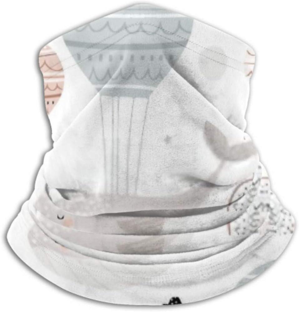 Fleece Neck Warmer ,multifunctional Seamless Childish Pattern Sleeping Whales Hot Scarf,Neck Gaiter, Neck Cap, Neck Scarf, Balaclava, Headwear, Bandana,
