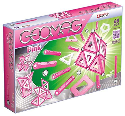 Geomag- Pink Gioco di Costruzione Magnetico, Multicolore, 68 Pezzi, GM105