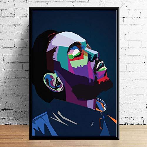 Duying Juice Wrld J Paste Post Malone Mac Miller Travis Scoot Rapper Hip Hop Star Art Canvas Decor Decoración para el hogar Póster de Pared 50x70cm K-1371